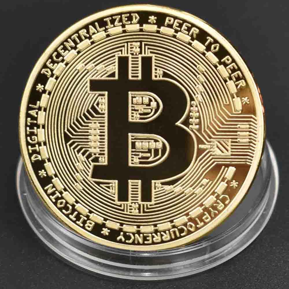 Litecoin physical Collectible Coin Crypto Commemorative lite Coin Gold plated